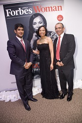 From left – Sidarth Wahi - Project Director Forbes Africa, Chairperson of Africa Fashion International - Dr Precious Moloi-Motsepe, Founder, Publisher and Vice-Chairman of the ABN Group - Rakesh Wahi